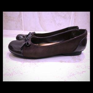 Me Too Suede and Leather Brown Flats